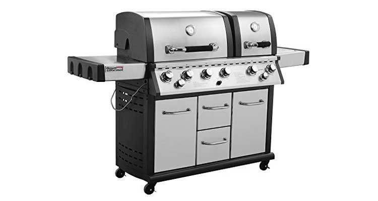 Royal Gourmet MG6001-R-C 6 Cabinet Propane Infrared Burner Gas Grill