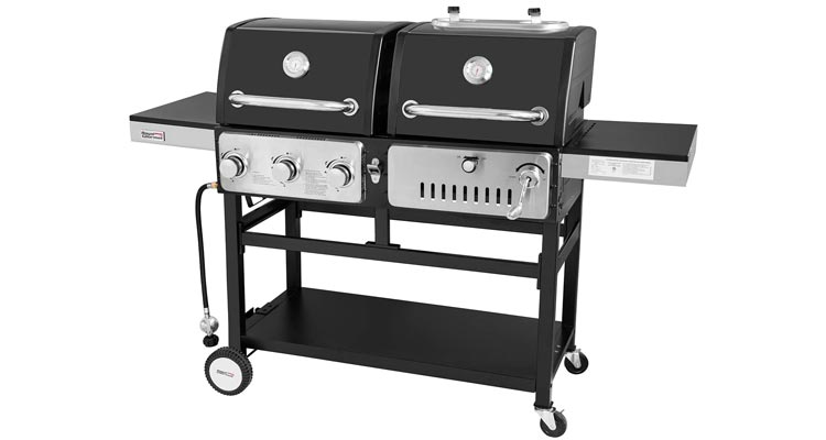 Royal Gourmet Dual 3-Burner Gas and Charcoal Grill Combo