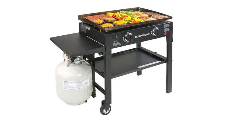Blackstone 28 inch Outdoor Flat Top Gas Grill Griddle Station - 2-burner