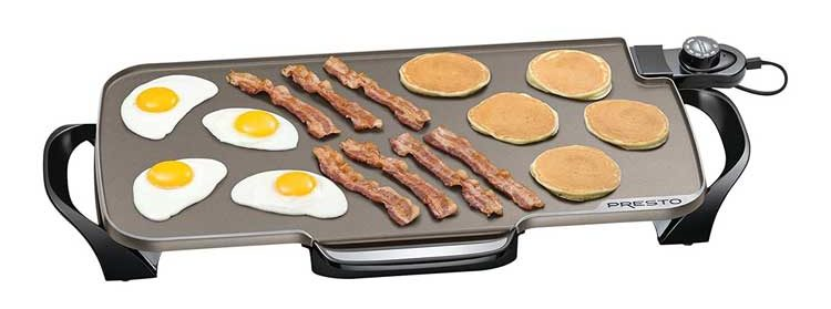 Presto Ceramic 22-inch Electric Griddle with removable handles