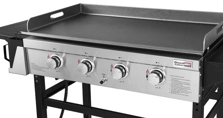 Royal Gourmet GB4001 4-Burner Propane Gas Grill Griddle Outdoor Flat Top