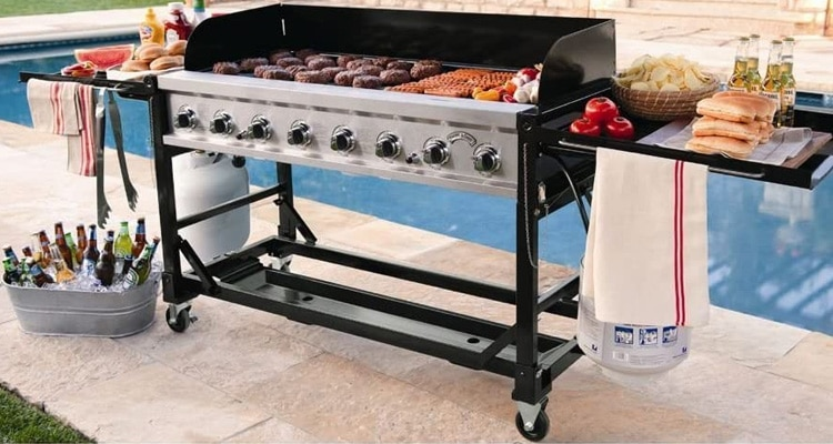 Commercial Grade 8 Burner Large Flat Top BBQ Grill