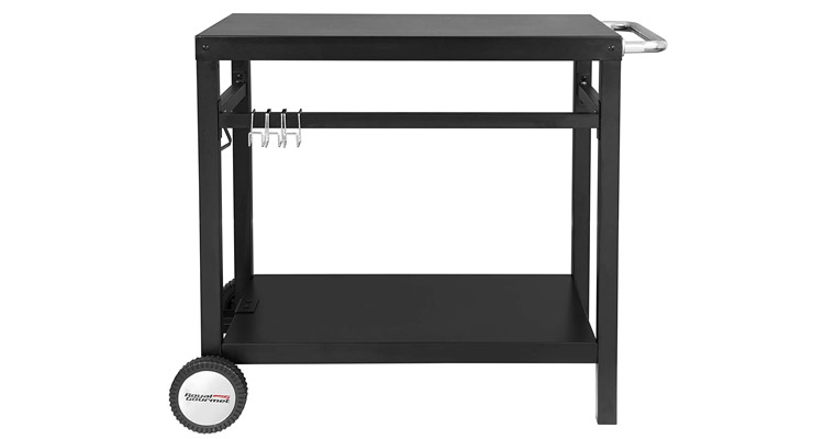 Royal Gourmet Double-Shelf Movable Grill Table