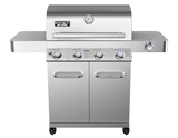Monument Grills Stainless Steel 4 Burner Propane Gas Grill with Rotisserie