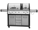 Royal Gourmet Mirage MG6001-R-C 6 Cabinet Propane Infrared Burner Gas Grill