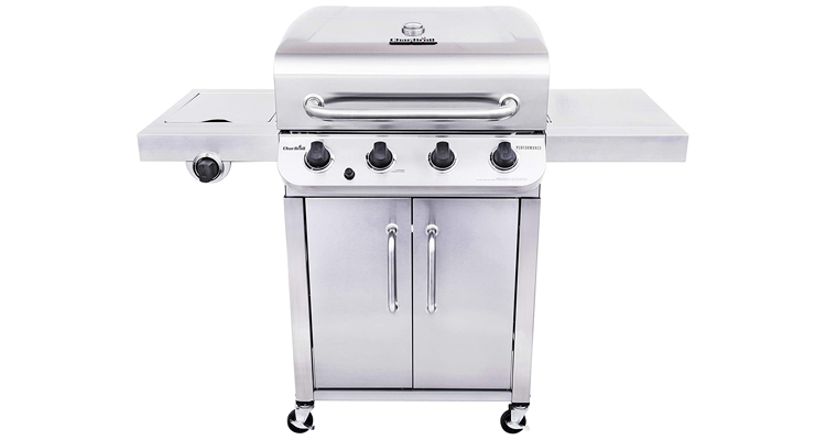 Char-Broil 4-Burner Stainless Steel Gas Grill With Cabinet