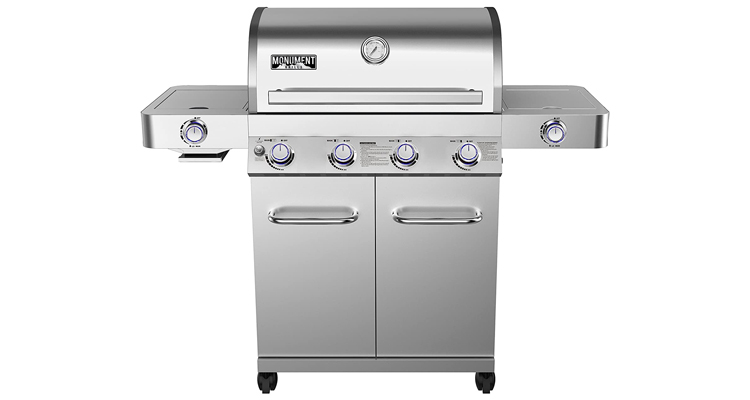 Monument Grills 24367 Stainless Steel 4 Burner Gas Grill
