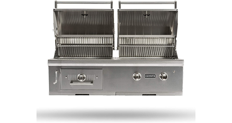 Coyote 50-Inch Built-in Natural Gas/Charcoal Dual Fuel Hybrid Grill