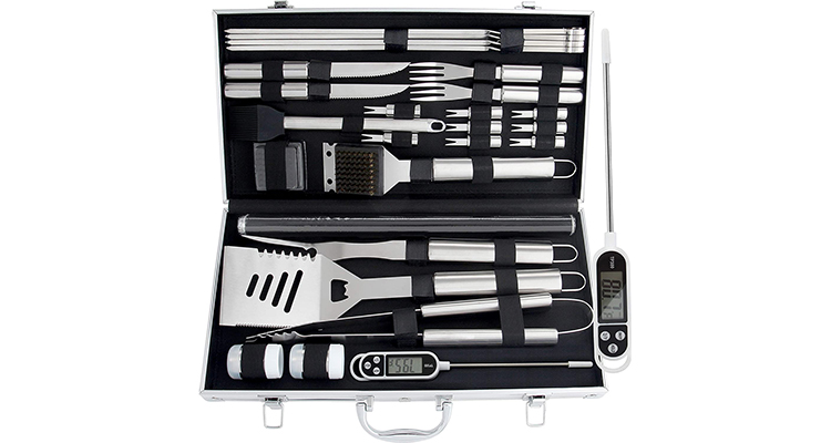 ROMANTICIST 28-Piece BBQ Accessories Set with Thermometer