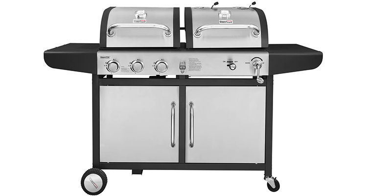 Royal Gourmet ZH3002-S 3-Burner Stainless Steel Gas and Charcoal Grill Combo