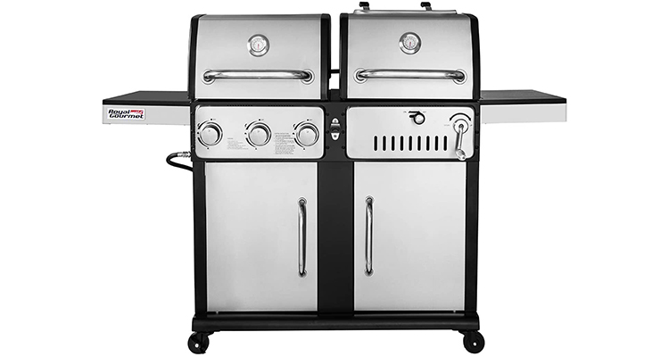 Royal Gourmet ZH3003s 3-Burner Charcoal and Gas Grill Combo