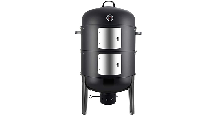 Realcook Charcoal 20-Inch Vertical BBQ Smoker