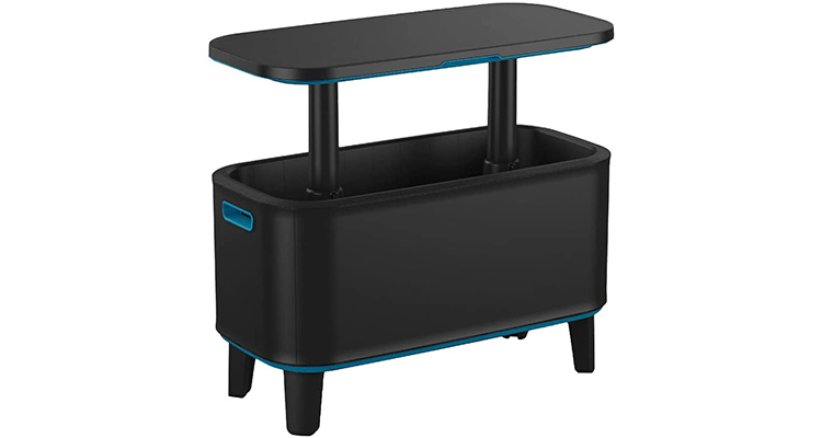Keter Breeze Outdoor Patio Cooler with Hot Tub Side Table