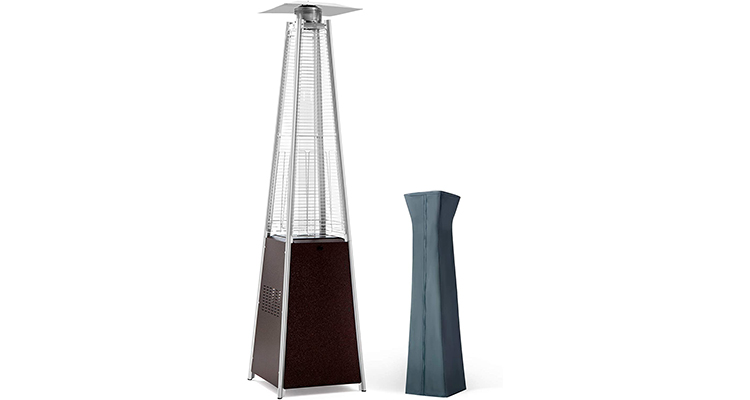 PAMAPIC Glass Tube Pyramid Outdoor Tower Heater