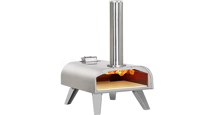 BIG HORN OUTDOORS Stainless Steel Wood Pellet Portable Pizza Oven