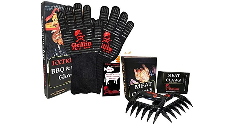 Grillin Chill Gear Meat Claws and Grilling Gloves