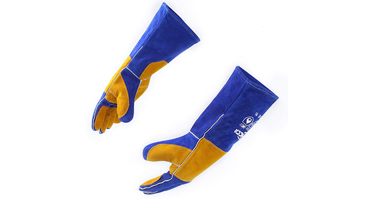 RAPICCA Extra-Long Leather BBQ Gloves