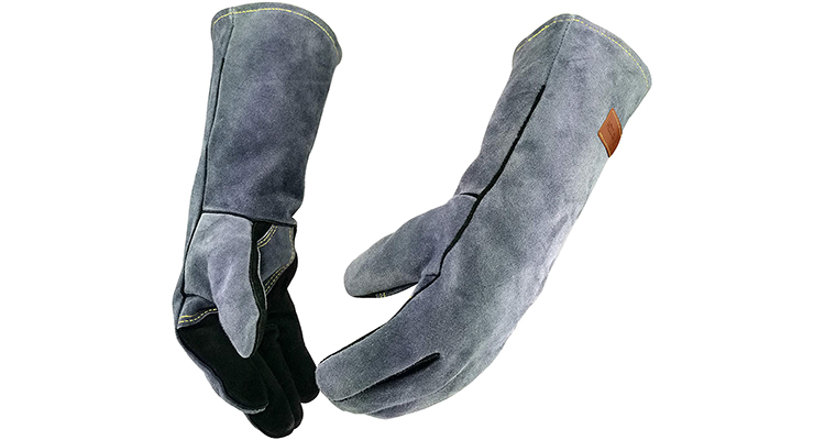 WZQH Heat Resistant Leather Grill Gloves