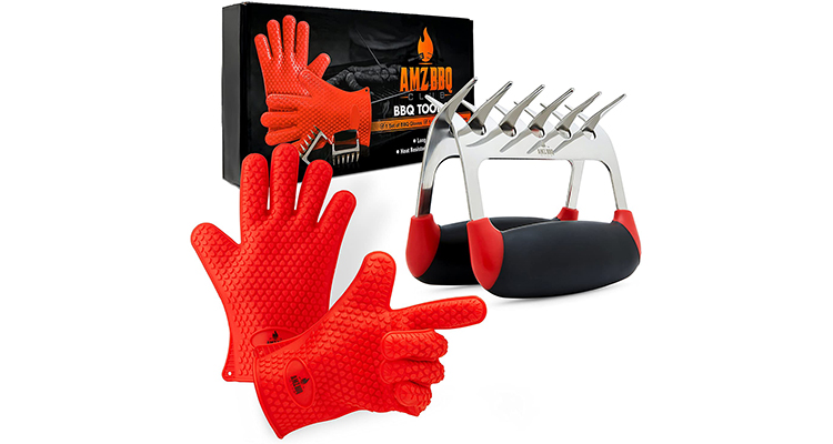 AMZ BBQ CLUB BBQ Gloves and Meat Claw