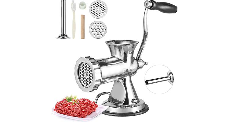 Huanyu Stainless Steel Manual Meat Grinder