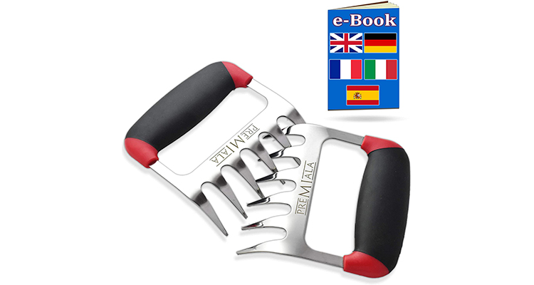 Premiala Stainless Steel 3-in-1 Meat Shredder Claws
