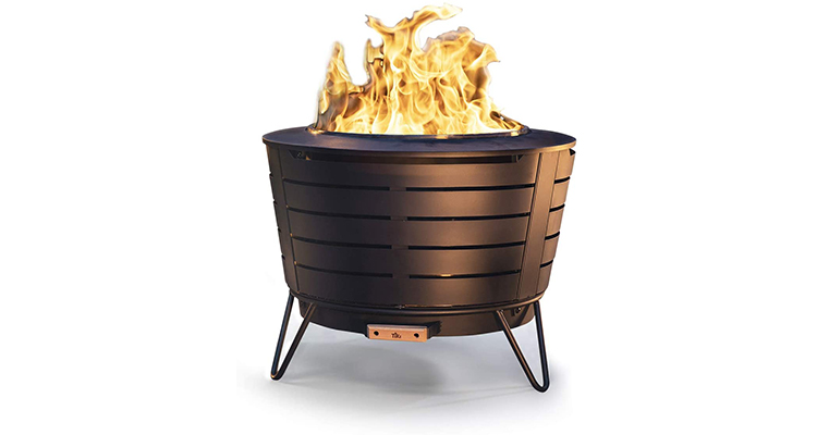 TIKI Brand 25-Inch Stainless Steel Fire Pit