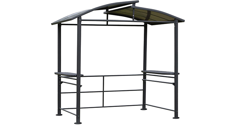 Outsunny 8' x 5' Grill Gazebo with Side Shelves